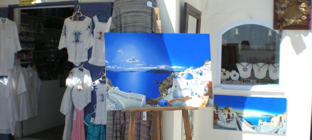 Shopping på Santorini